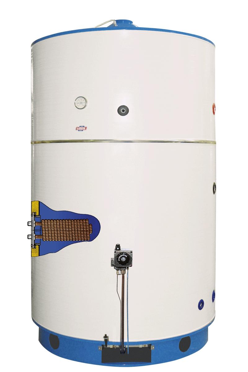 BTG 1500-2000 - Scaldacqua TIRAGGIO NATURALE - fiamma pilota - vetroporcellanato