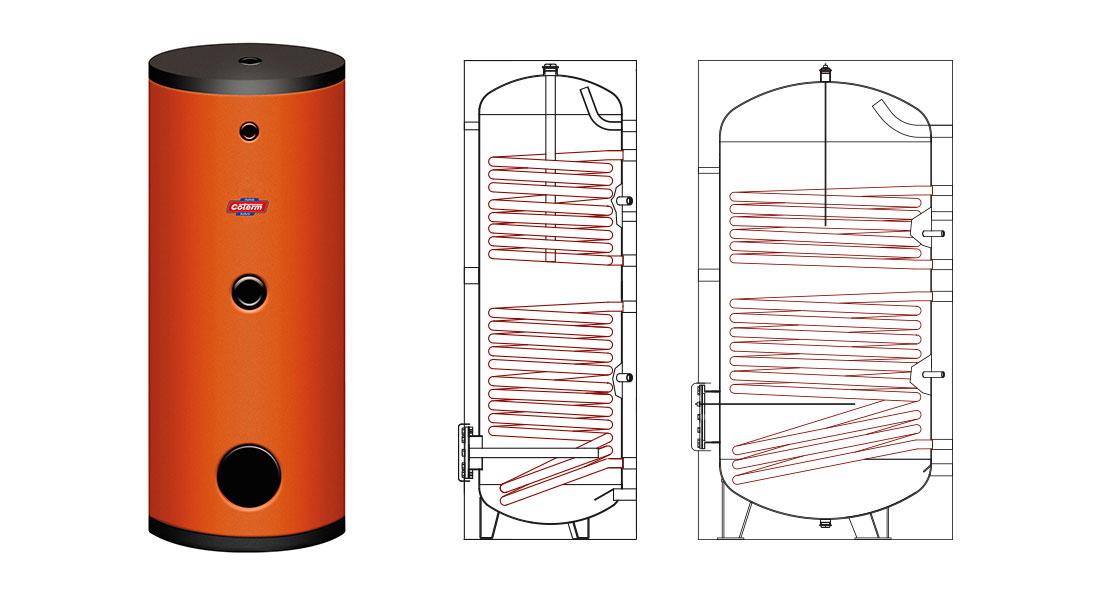 Bollitori-boilers SPS - con 2 serpentine
