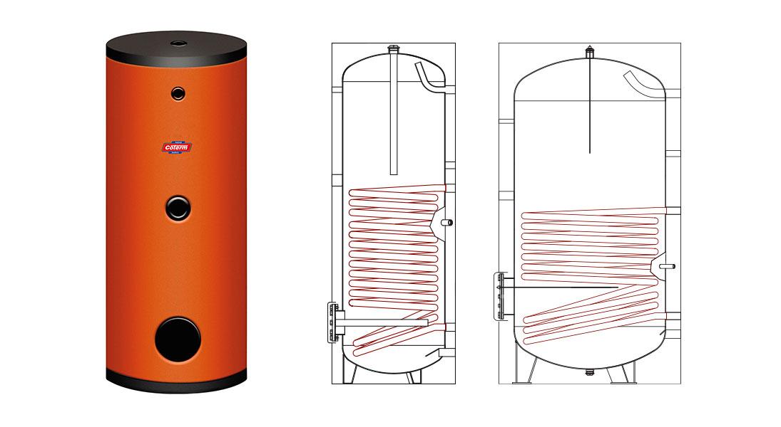 Bollitori-boilers SP - con 1 serpentina